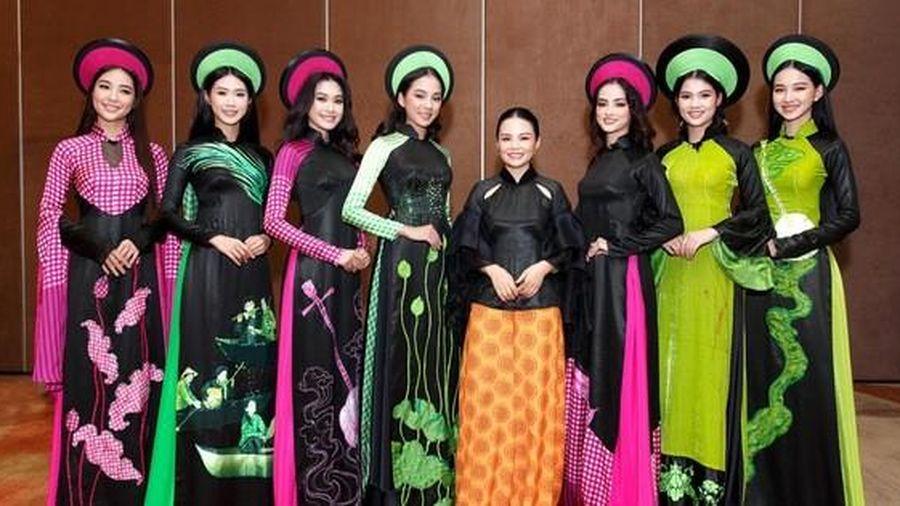 Bị tố 'đạo' ở Hoa hậu Việt Nam, áo dài La Sen Vũ phủ nhận