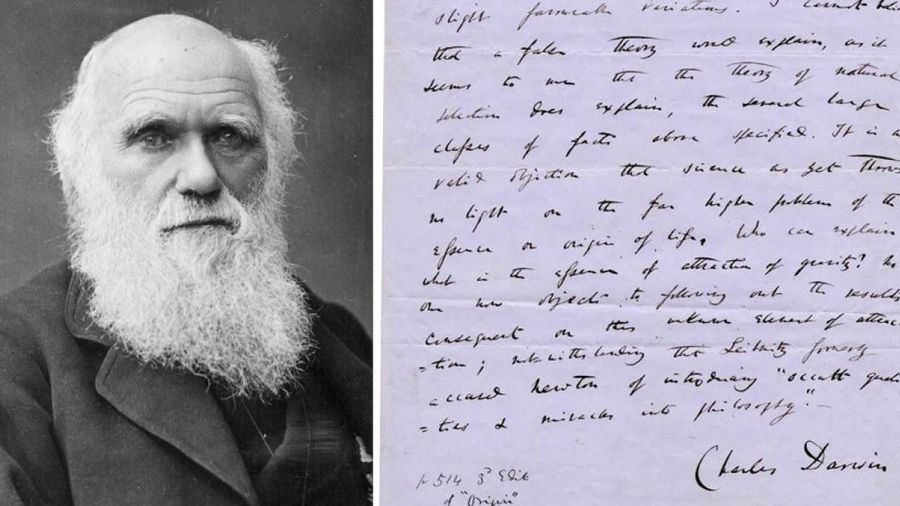 Hai trang viết tay 'Nguồn gốc các loài' của Charles Darwin