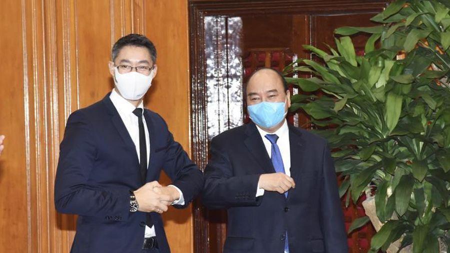 Thủ tướng Nguyễn Xuân Phúc tiếp cựu Phó Thủ tướng CHLB Đức