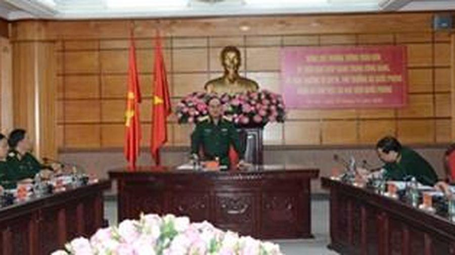 Thượng tướng Trần Đơn thăm và làm việc tại Học viện Quốc phòng