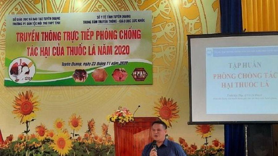 Tuyên Quang: Tuyên truyền phòng chống tác hại của thuốc lá cho học sinh