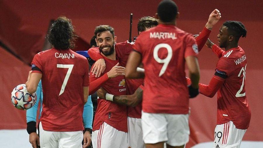 Bruno Fernandes lập siêu phẩm, M.U đại thắng ở Champions League