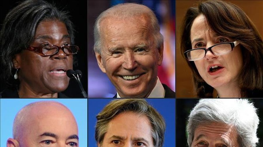 Ông Joe Biden công bố một số nhân sự nội các