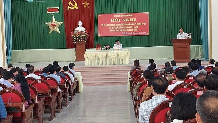 Vĩnh Phúc: Huyện Vĩnh Tường đối thoại giữa người đứng đầu cấp ủy, chính quyền với các tầng lớp nhân dân