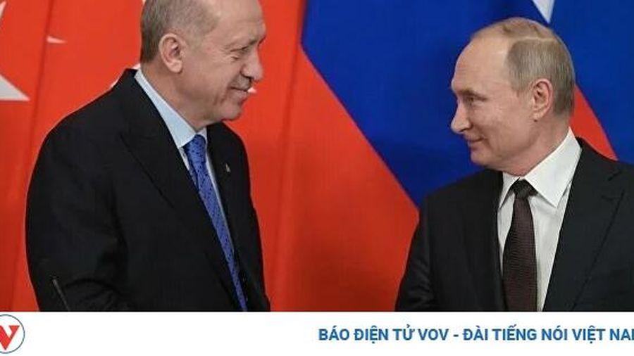 Tổng thống Nga V.Putin điện đàm với Tổng thống Thổ Nhĩ kỳ T.Erdogan