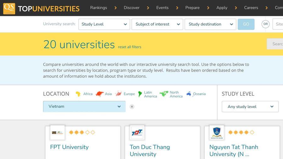 11 trường Đại học Việt Nam lọt top tốt nhất châu Á 2021