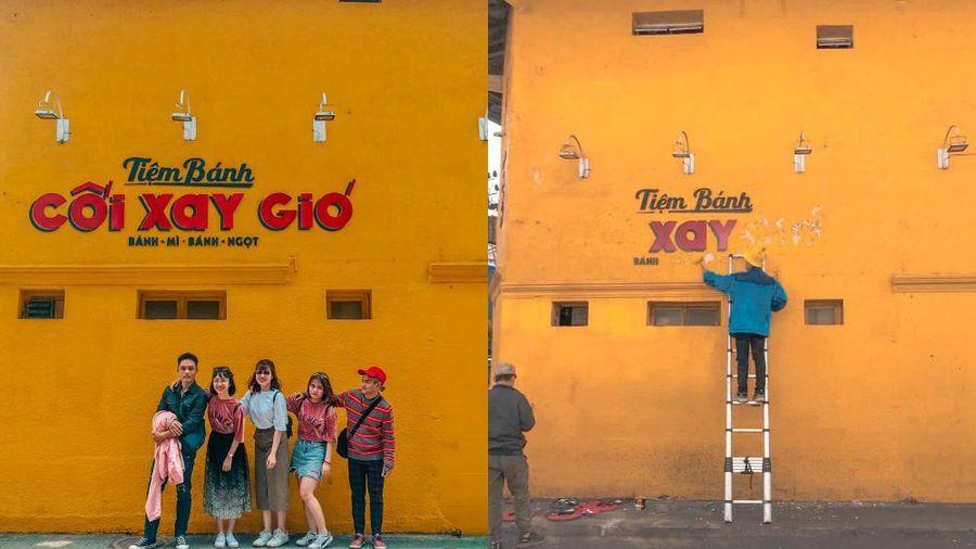 Hình ảnh mới nhất: Bức tường vàng huyền thoại Tiệm bánh Cối Xay Gió chính thức bị 'xóa sổ'