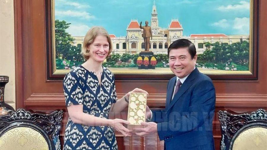 Lãnh đạo TPHCM tiếp Đại sứ New Zealand đến chào từ biệt