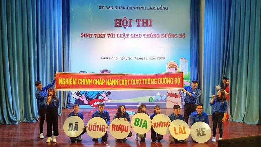 Lâm Đồng tổ chức Hội thi Sinh viên với luật giao thông đường bộ