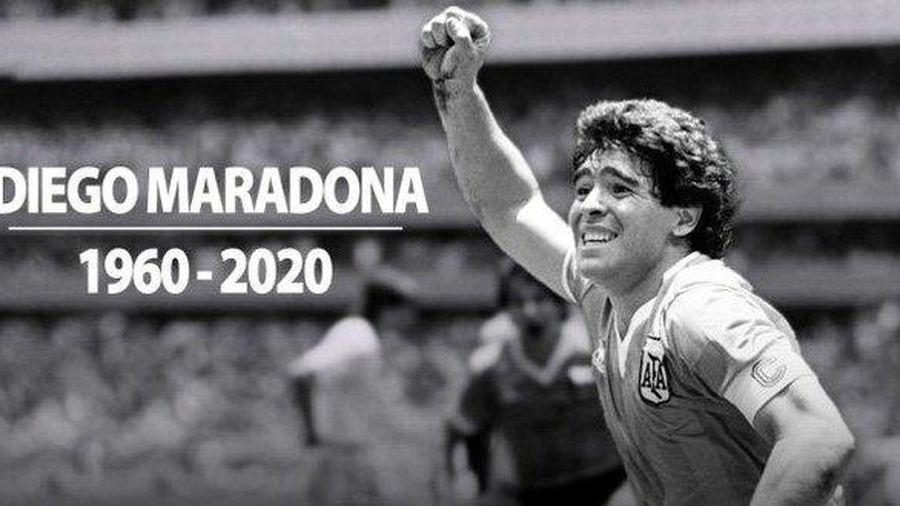 Argentina để quốc tang 3 ngày tưởng nhớ huyền thoại Diego Maradona