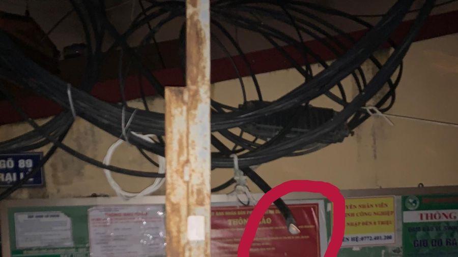 Hải Phòng: Bắt quả tang đối tượng đang trộm cắp 2 dây cáp điện trung tính