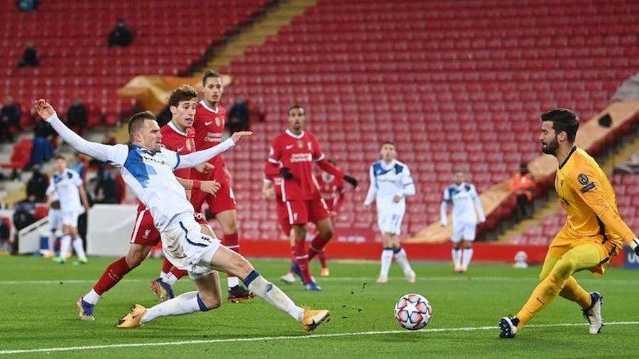 Liverpool thất bại trước Atalanta chỉ trong 4 phút