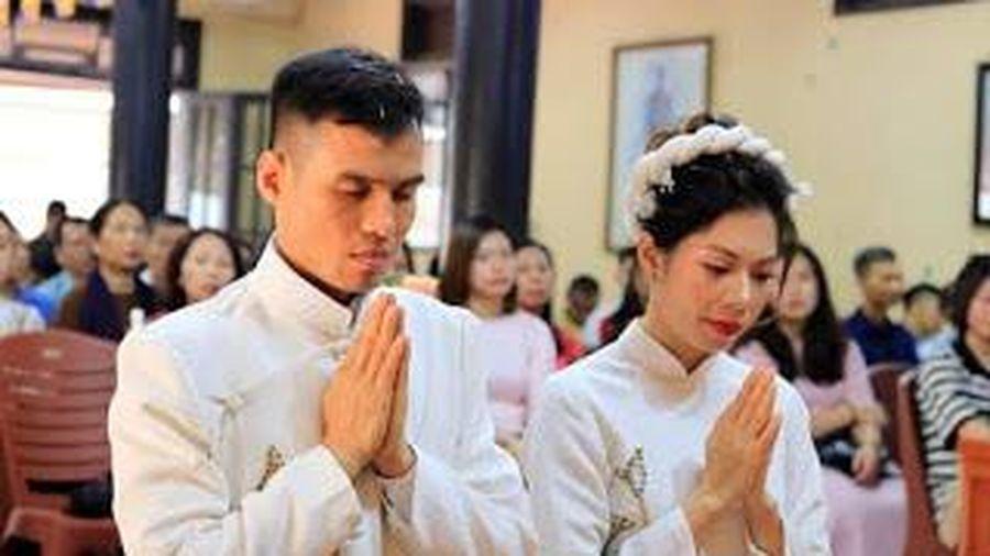 Tiệc cưới chay của hai Phật tử trẻ