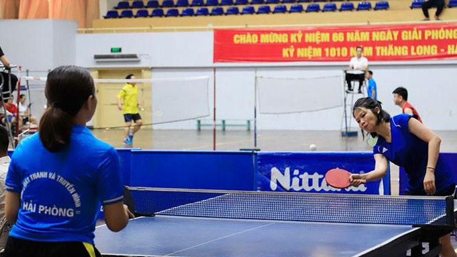 Hơn 300 tay vợt tham dự Giải Bóng bàn tranh Cúp Báo Hànôịmới lần thứ VIII - 2020