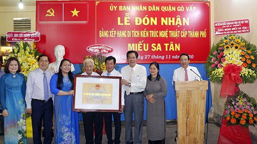 TP.HCM: Đình An Hội và miếu Sa Tân được xếp hạng di tích kiến trúc nghệ thuật
