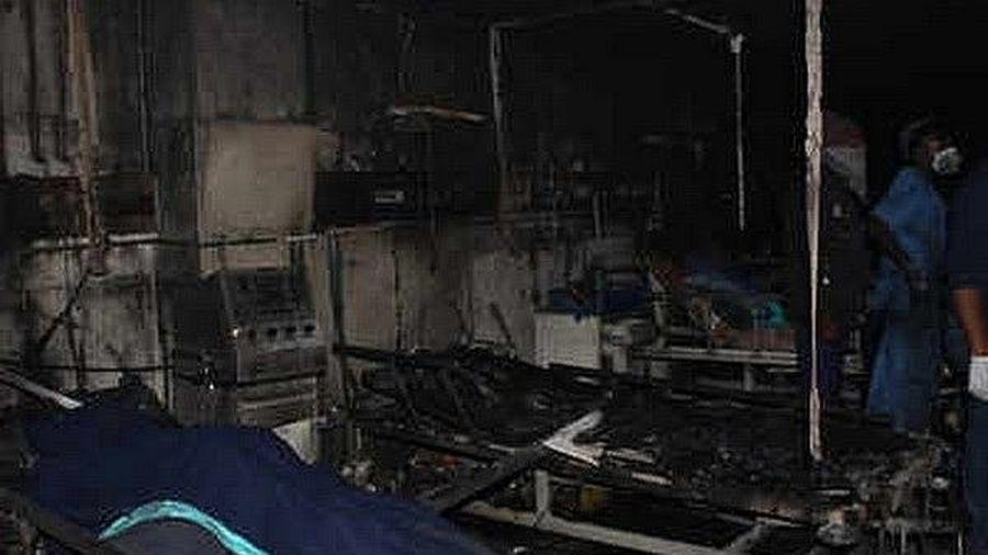 Cháy bệnh viện, 5 bệnh nhân Covid-19 thiệt mạng