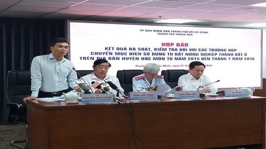 Công an TP HCM điều tra vụ hơn 1000 hồ sơ sai phạm đất đai tại huyện Hóc Môn