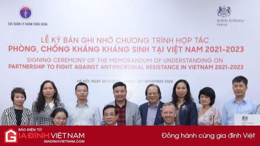 Bộ Y tế ký kết Chương trình Hợp tác phòng, chống kháng kháng sinh tại Việt Nam 2021 – 2023