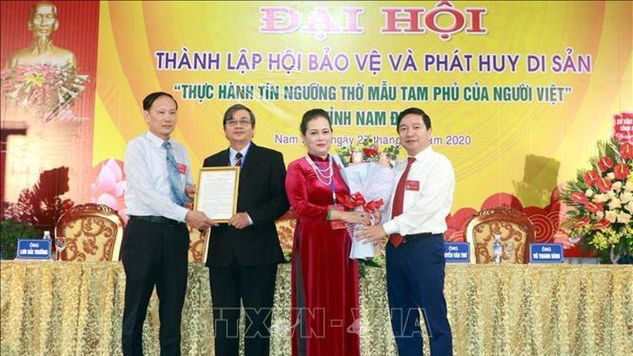 Bảo vệ và phát huy di sản 'Thực hành tín ngưỡng thờ Mẫu Tam phủ của người Việt'