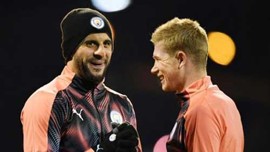 Man City đón tin vui từ Walker và De Bruyne