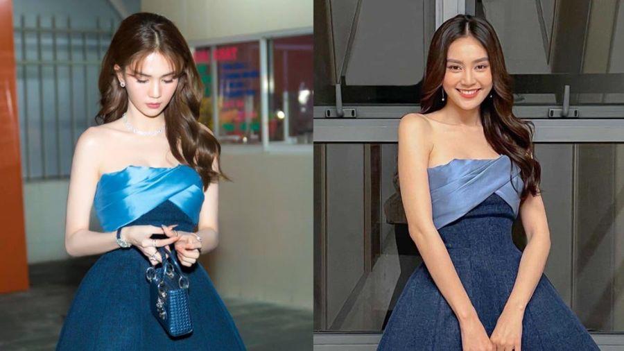 Cùng một chiếc váy, Ngọc Trinh bị sai dresscode, Ninh Dương Lan Ngọc chạm đỉnh cái đẹp