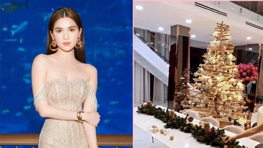 Ngọc Trinh trang hoàng lộng lẫy cho căn biệt thự 40 tỷ đồng để đón Giáng sinh