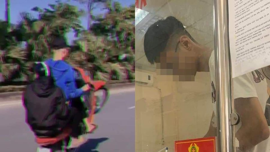 Xử phạt nam thanh niên khoe clip 'bốc đầu' xe máy trên TikTok