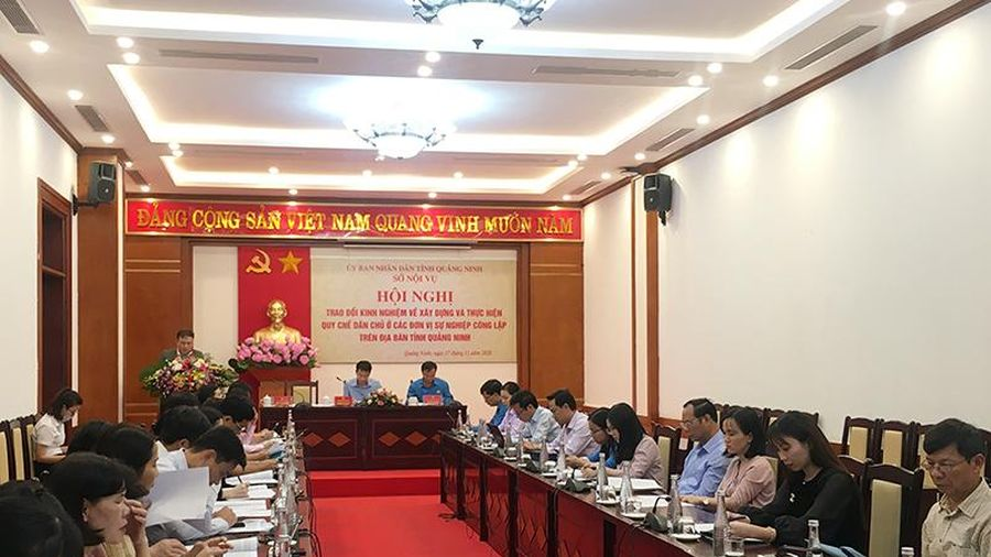 Hội nghị trao đổi kinh nghiệm về thực hiện quy chế dân chủ ở đơn vị sự nghiệp công lập
