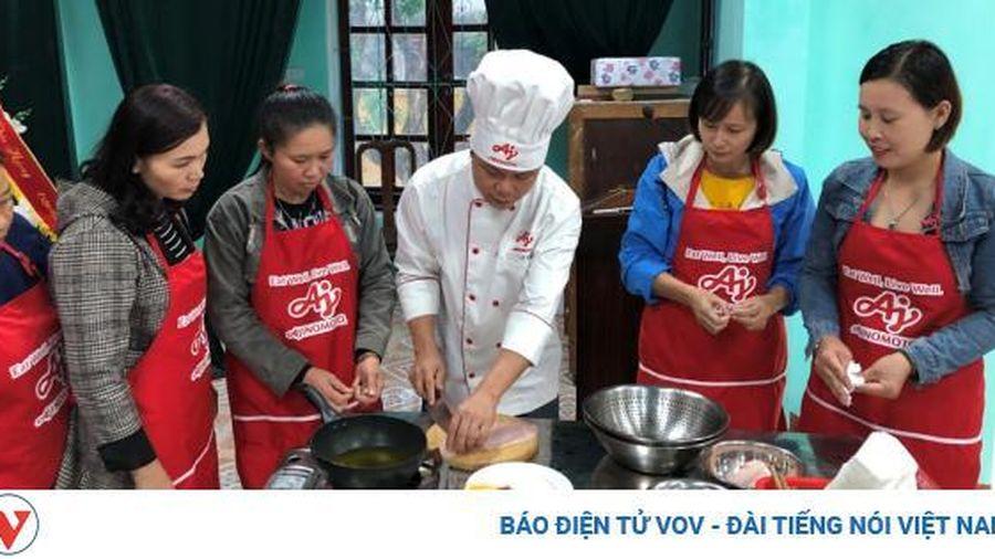 Bữa cơm gia đình chuẩn vị với 'lớp học nấu ăn cùng Ajinomoto'