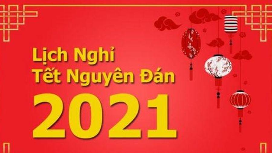 Thông tin chính thức về lịch nghỉ Tết Nguyên đán Tân Sửu 2021