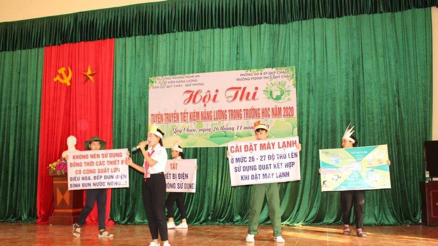 Quỳ Châu tuyên truyền tiết kiệm năng lượng trong trường học
