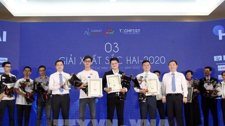 Trao giải cuộc thi Dự án Đổi mới sáng tạo ứng dụng trí tuệ nhân tạo Tp Hồ Chí Minh