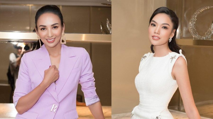 Hoa hậu Ngọc Diễm diện vest không nội y, đọ sắc cùng 'hổ chiến' tại Hoa hậu Hoàn vũ