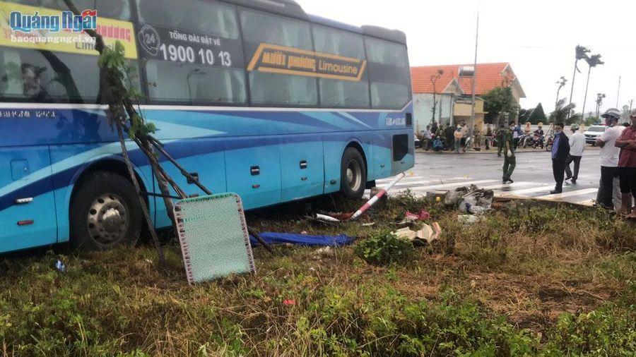 Đức Phổ: Va chạm xe khách, một người tử vong tại chỗ