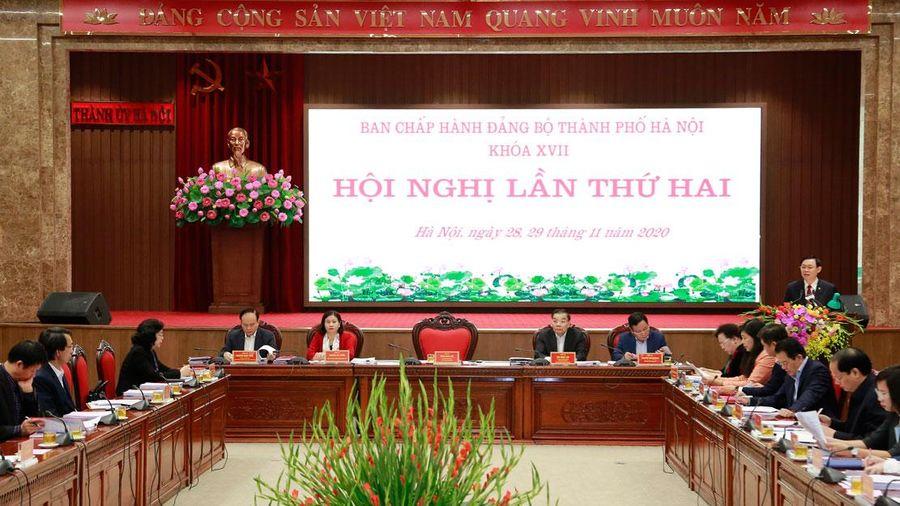Ban Chấp hành Đảng bộ thành phố Hà Nội thảo luận, cho ý kiến 10 nội dung quan trọng