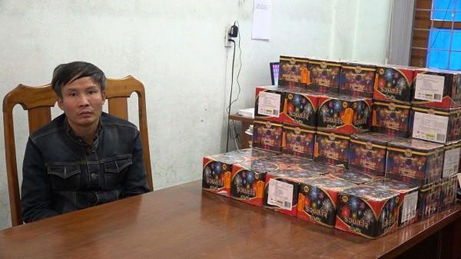 Bốc xếp 62kg pháo nổ, một đối tượng tại Quảng Bình bị công an bắt giữ