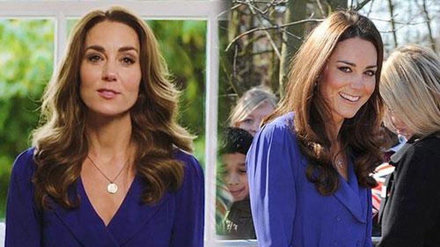 Kate diện lại váy cũ từng 'mặc chung' với mẹ