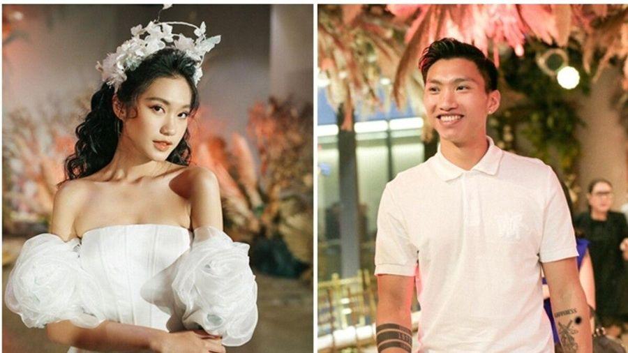 Đoàn Văn Hậu công khai xuất hiện cổ vũ Doãn Hải My trình diễn thời trang
