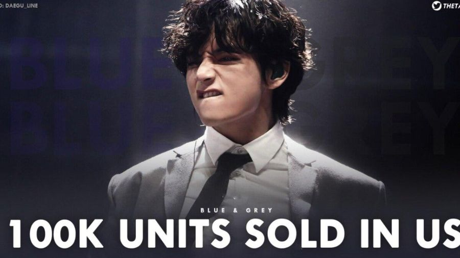 Chỉ sau 8 ngày, ca khúc V (BTS) tự sản xuất cán mốc 100 nghìn bản tại Mỹ