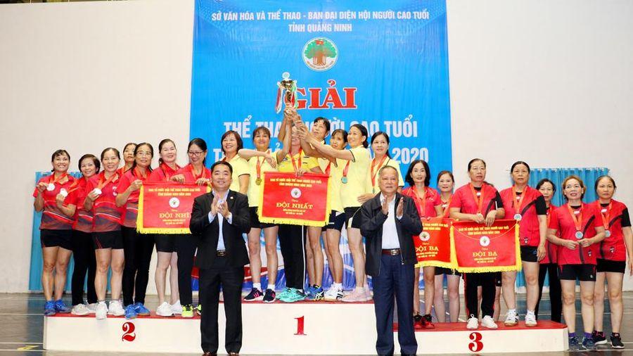 Đoàn TP Cẩm Phả giành giải Nhất toàn đoàn Giải thể thao Người cao tuổi