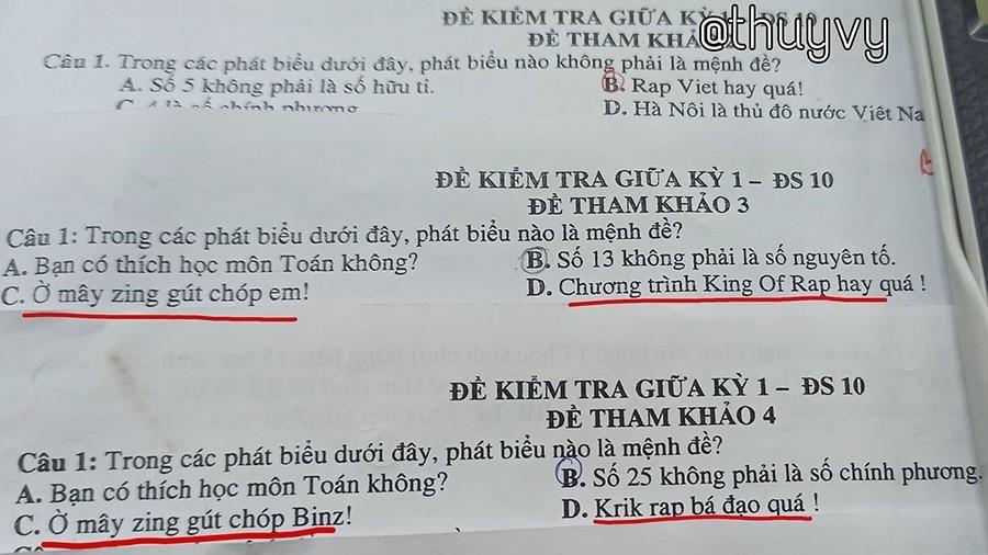 Đề kiểm tra môn Toán toàn là 'Rap Việt': Đây chính là thầy giáo 'bắt trend' nhất năm!