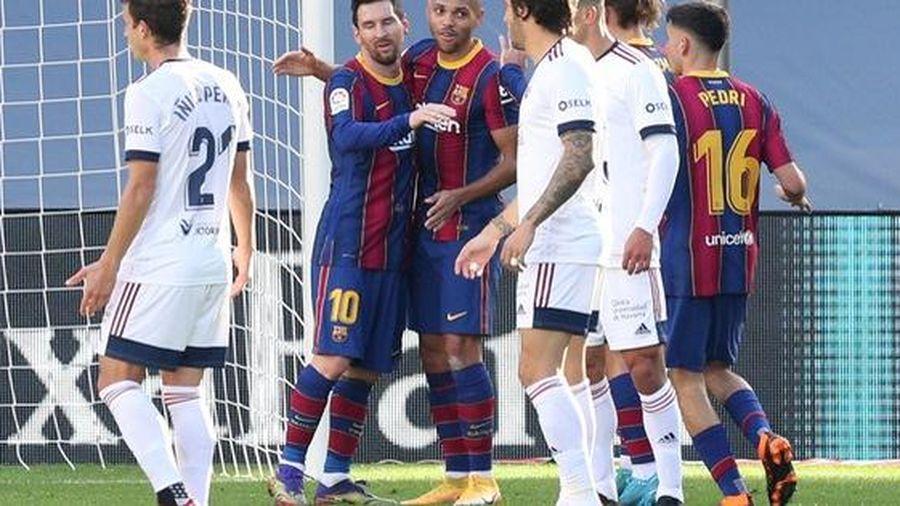 Messi, Griezmann cùng lập siêu phẩm, Barcelona lên Top 7 La Liga