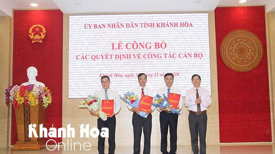 Khánh Hòa: Bổ nhiệm Chánh Văn phòng UBND tỉnh, Giám đốc Sở Tài Nguyên và Môi trường, Giám đốc Sở Xây dựng