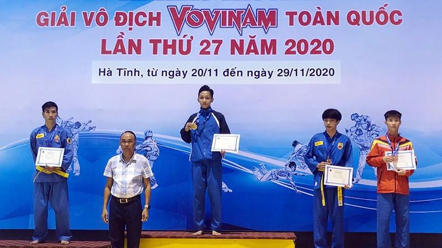 Quảng Ninh giành HCĐ tại Giải vô địch Vovinam toàn quốc 2020