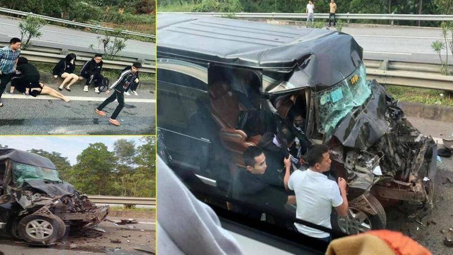 Vì sao xe Limousine tông đuôi ô tô đầu kéo trên cao tốc, 8 người bị thương?