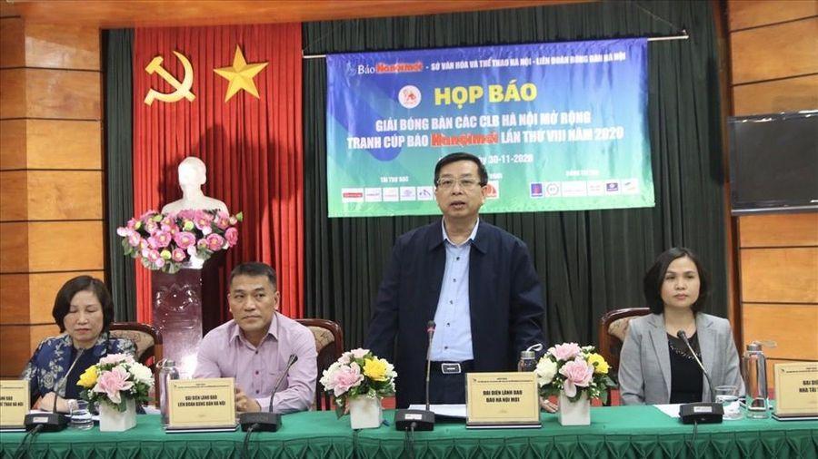 Giải bóng bàn các CLB Hà Nội: 300 tay vợt đều phải đeo khẩu trang