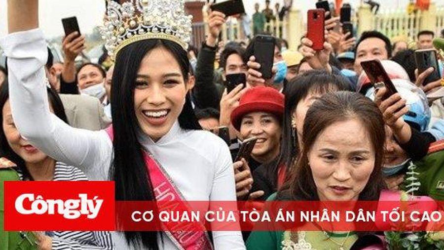 Hoa hậu Đỗ Thị Hà trở về quê nhà