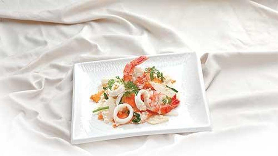 Ngọt thơm hương vị su hào xào hải sản