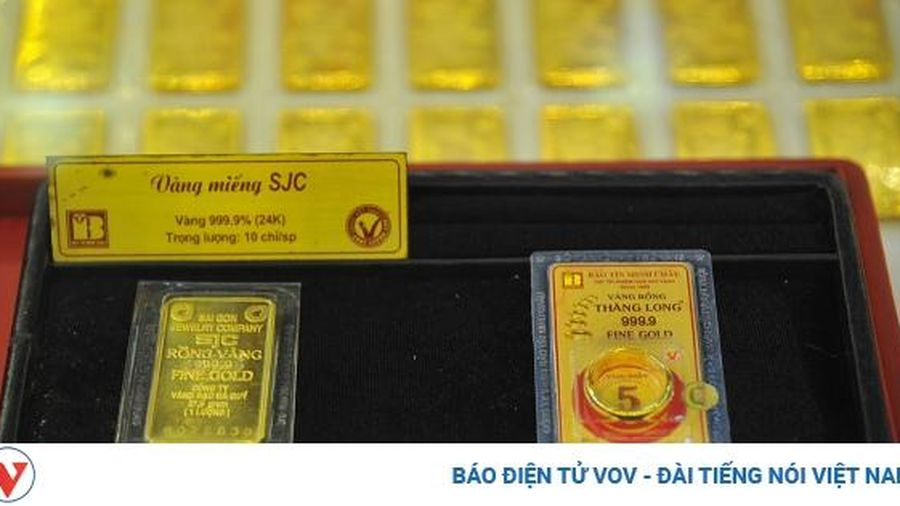 Giá vàng trong nước giảm mạnh, xuống dưới mốc 54 triệu đồng/lượng