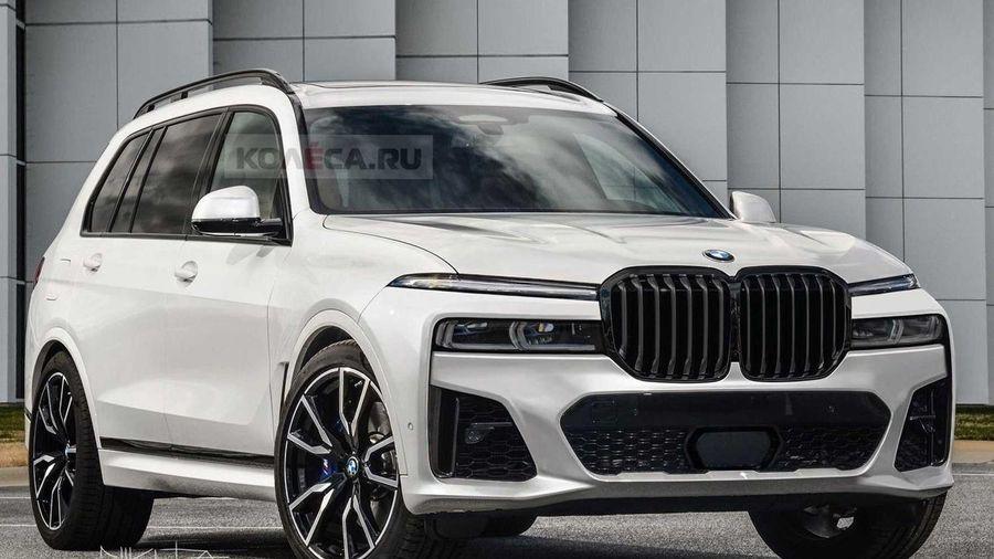 Ảnh phác thảo thiết kế BMW X7 2022